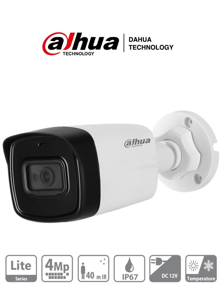 DAHUA HAC-HFW1400TL - Camara Bullet 4 Megapixeles/ Lente de 2.8 mm/ 97 Grados de Apertura/ IR de 40 Mts/ IP67/ DWDR/