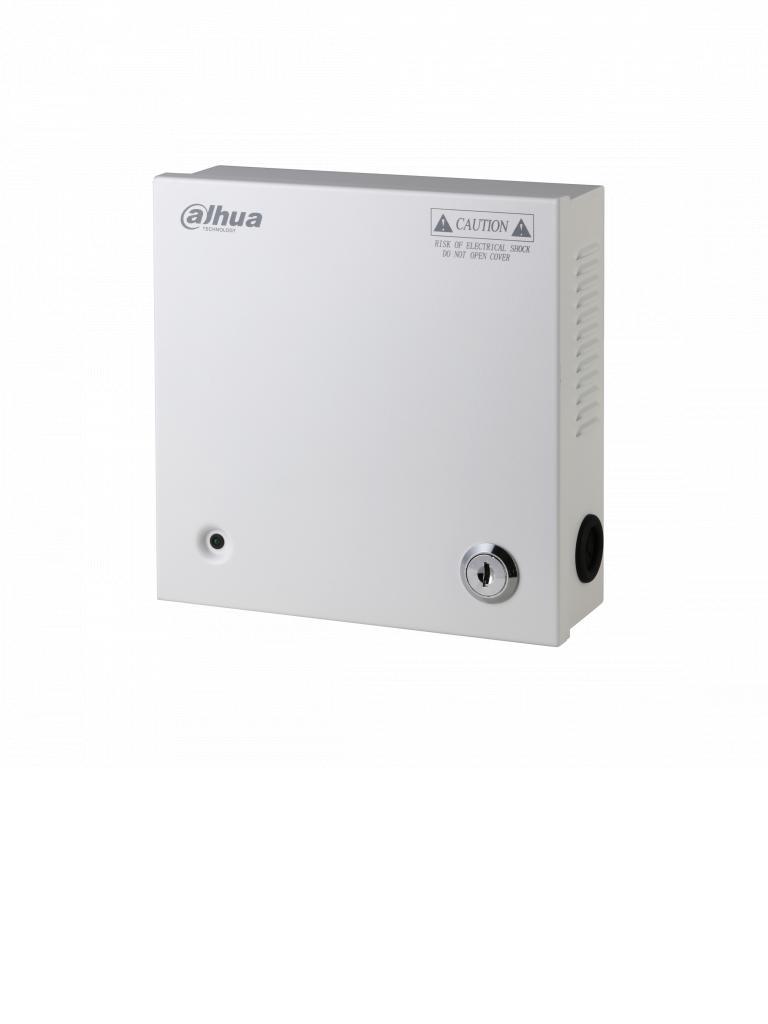 DAHUA PFM3419CH - Distribuidor de energía 9 canales / 12  VDC / 5 AMP / Fusibles intercambiables / Protección de sobrecarga / Color blanco