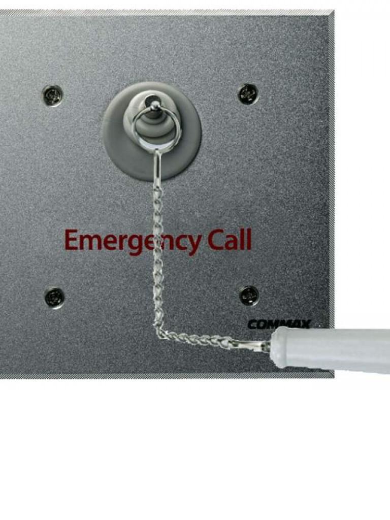 COMMAX ES420 - Boton de emergencia con cadena para regaderas, resistente al agua / Conexion con JNS4CS