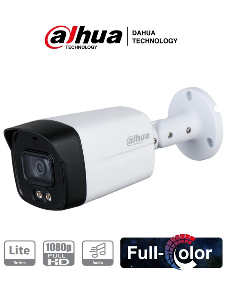 DAHUA HFW1239TLM-A-LED - Camara Bullet HDCVI Full Color 1080p/ Microfono Integrado/ Starlight/ Luz Blanca 40 mts/ Lente de 3.6mm/ IP67