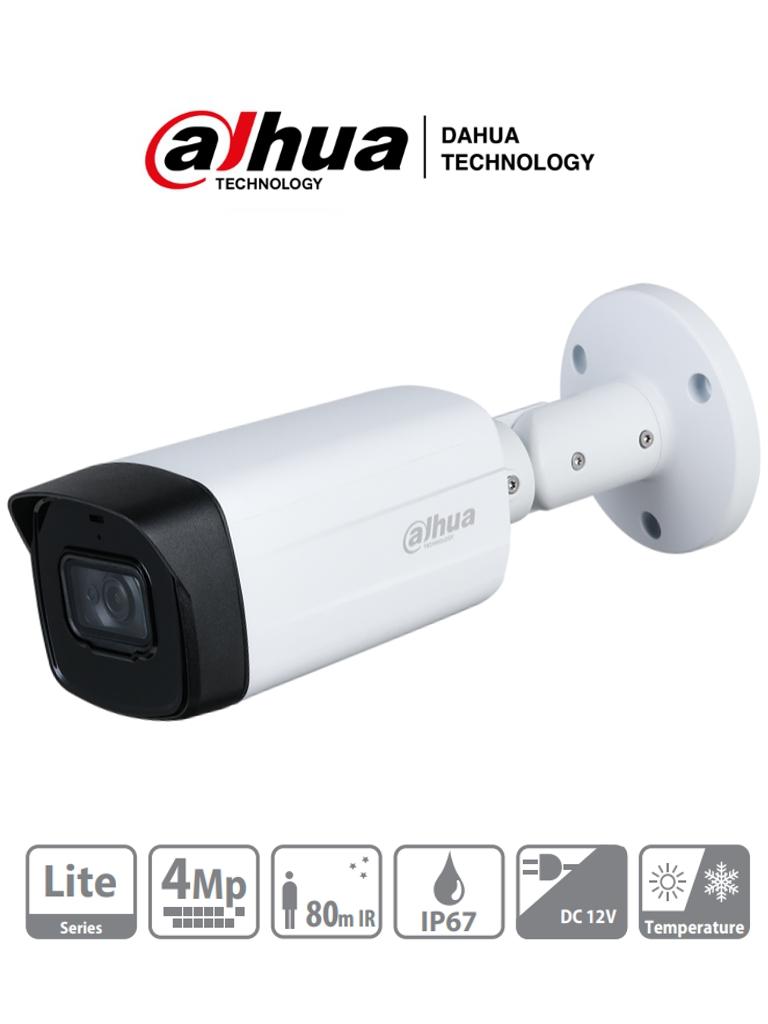 DAHUA HFW1400TH-I8 - Camara Bullet 4 Megapixeles/ Lente de 3.6 mm/ IR de 80 Mts/ DWDR/ IP67/
