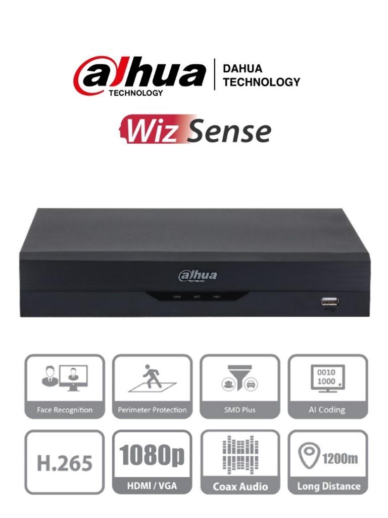 DAHUA DH-XVR5108HS-I2  - DVR de 8 Canales 5 Megapixeles Lite/ WizSense/ H.265+/ 8 Canales HDCVI+4 IP/ Hasta 12 Canales IP/ 2 Canales de Reconocimiento Facial/ SMD Plus/ Protección Perimetral/ 1 Sata de Hasta 10 TB/ IoT&Pos/