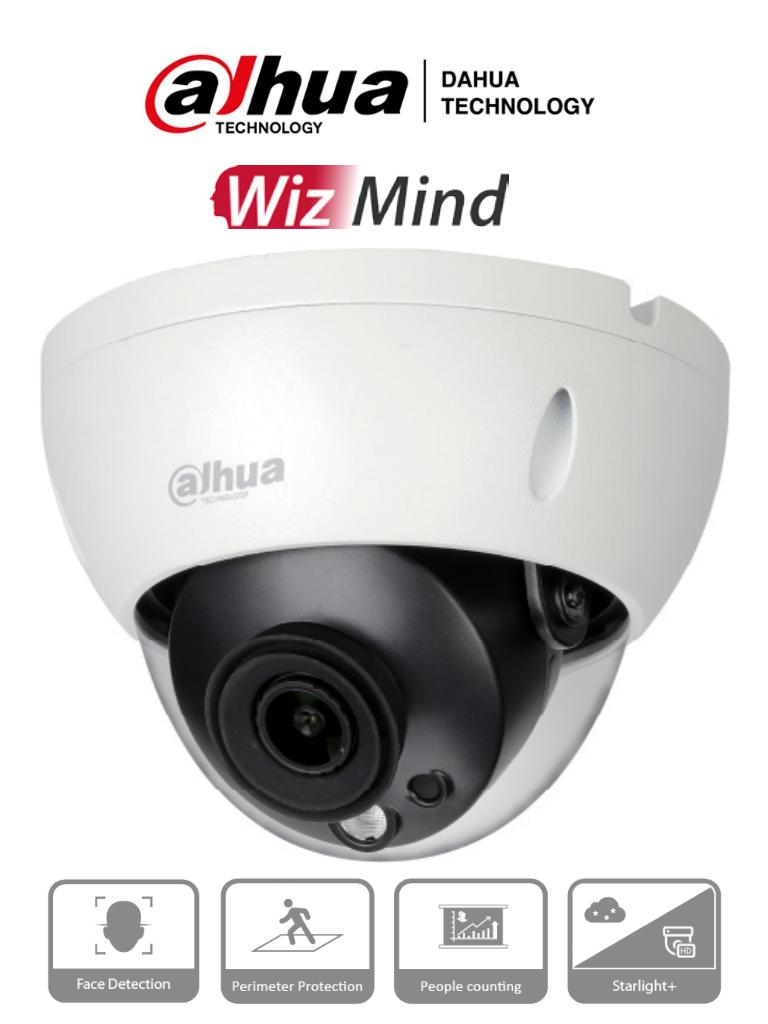 DAHUA IPC-HDBW5442R-S - Camara IP Domo 4 Megapixeles IA/ lente 2.8mm/ Face Detection/ H.265+/ IR 50 Mts/ Ranura para MicroSD/ IP67/ IK10/ #Proyectos