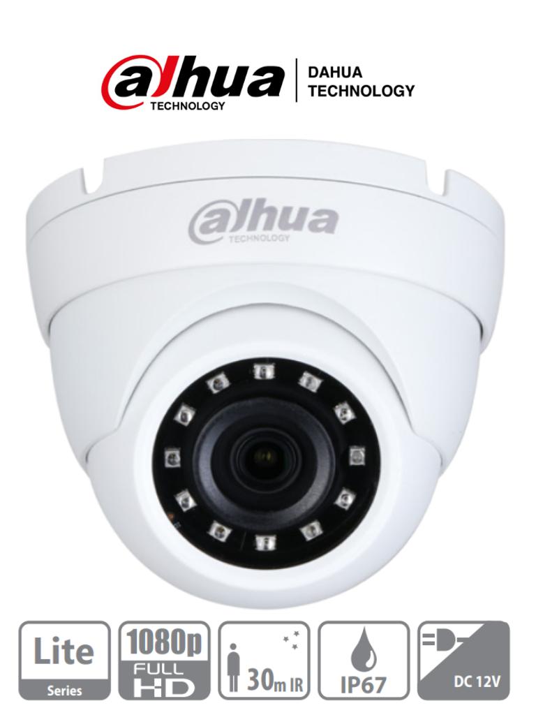 DAHUA HDW1200M28 - Camara Domo 1080p/ Metálica/ Lente de 2.8mm/  101 Grados de Apertura/ Ir de 30 Metros/ IP67/ DWDR/ BLC/HLC/AGC/ Soporta HDCVI/TVI/AHD/CBVS