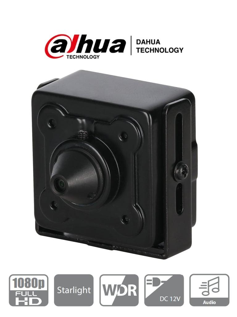 DAHUA HAC-HUM3201B-P - Camara HDCVI Pinhole 1080p/2 Megapíxeles/ Lente de 2.8 MM/ 103 Grados de Apertura/ 1 Entrada de Audio/ WDR/ BLC/ HLC/ Starlight/