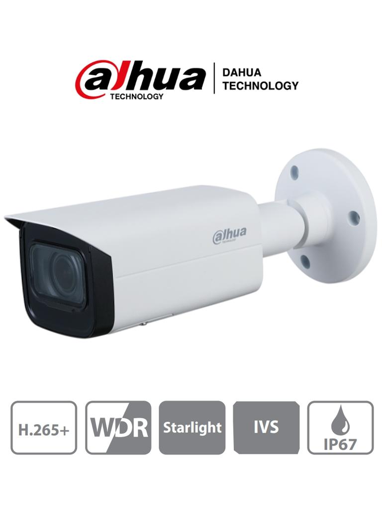DAHUA IPC-HFW2431TN-ZS-S2 - Camara IP Bullet 4 Megapixeles/ Lente Motorizado de 2.7 a 13.5mm/ IR 60Mts/ WDR Real 120dB/ Starlight/ WDR Real 120dB/ Videoanaliticos con IVS/ Ranura Micro SD/ IP67/ PoE/