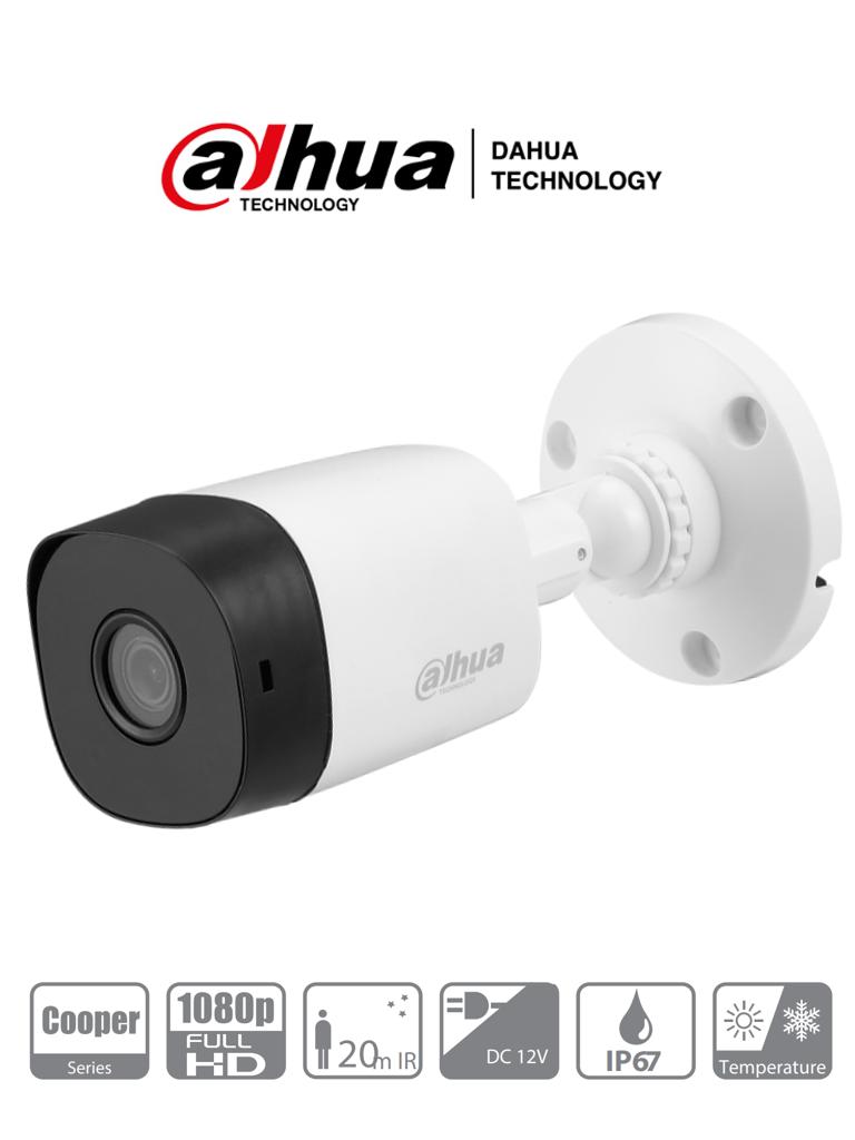DAHUA COOPER B1A21 - Camara Bullet HDCVI 1080p/ 93 Grados de Apertura/ Lente de 3.6mm/ IR de 20 Mts/ IP67/ TVI AHD y CVBS