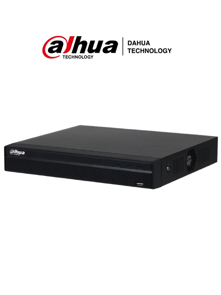 DAHU8 NVR1108HS-8P-S3/H - NVR 8 Canales IP / H265+ & H264+ / 8 Puertos PoE / Rendimiento 80 Mbps / HDMI / VGA / Puerto SATA 8TB