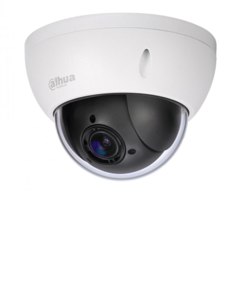 DAHUA SD22204IGC - Camara mini PTZ de 2 MP  HDCVI / 4X Zoom optico / WDR Real 120 dB / Interior / Exterior IP66 / IK10 / HLC / 3DNR