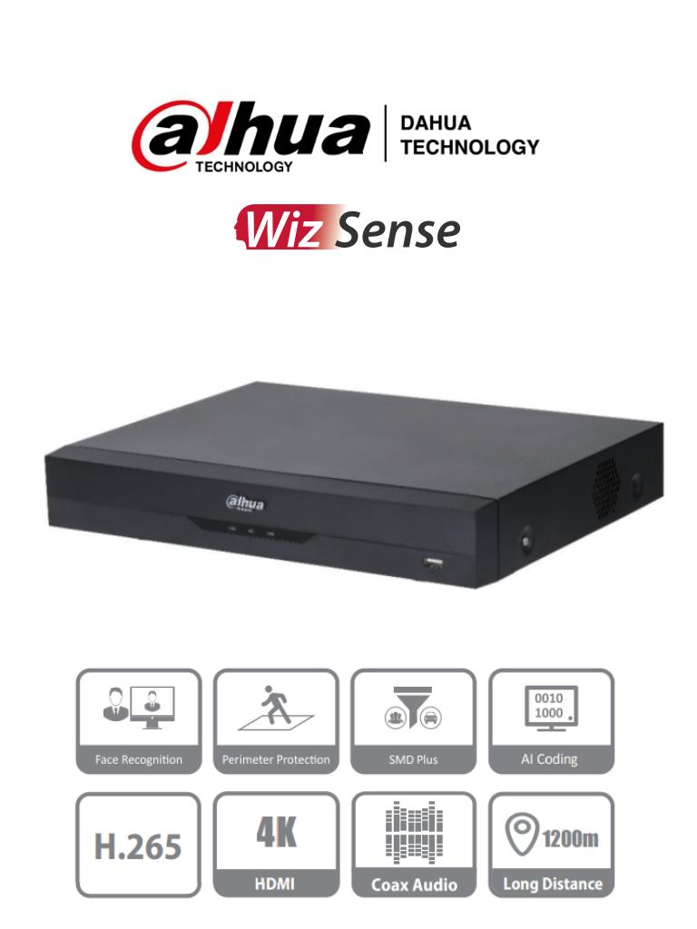 DAHUA XVR5108HE-I2 - DVR de 8 Canales 5 Megapixeles Lite/ WizSense/ H.265+/ 8 Canales HDCVI+4 IP/ Hasta 12 Ch IP/ 2 Canales de Reconocimiento Facial/ SMD Plus/ Protección Perimetral/ 1 Sata de Hasta 10 TB/ 8&3 E&S de Alarma/ 8 Entradas de Audio/ IoT&POS