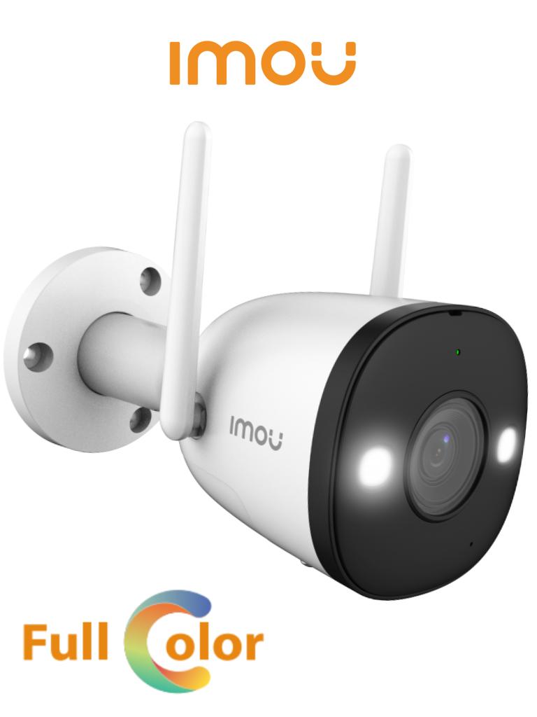 IMOU Bullet 2 - Camara IP Bullet Wifi de 2 Megapixeles/ Full Color/ Disuasion Activa con Estrobo y Sirena Integrados/ 108 Grados de Apertura/ 30 Mts de IR/ H.265/ IP67/ Audio Bidireccional/ Microfono Integrado/ Deteccion de Humanos/ Ranura para MicroSD/