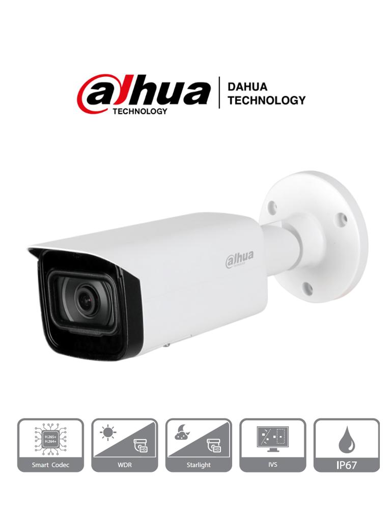 DAHUA IPC-HFW2831T-AS - Camara IP Bullet 4k/ 8 Megapixeles/ H.265+/ WDR Real/ Lente de 3.6 mm/ IR 50 Mts/ IP67/ E&S de Alarma/ Ranura MicroSD/ PoE/