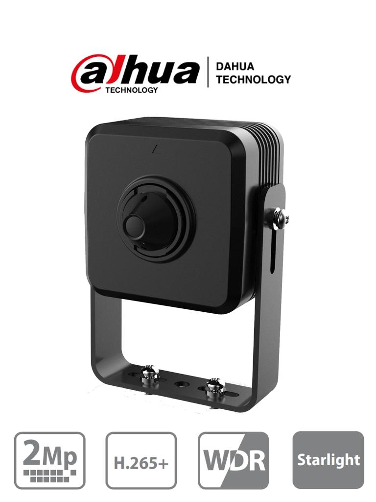 DAHUA HUM4231 - Camara IP Pinhole/ 2 Megapixeles/ Lente de 2.8mm/ Angulo de 105 Grados/ H.265+/ WDR Real/ 1 Entrada de Audio y 1 Salida/ Metalica #PinHole