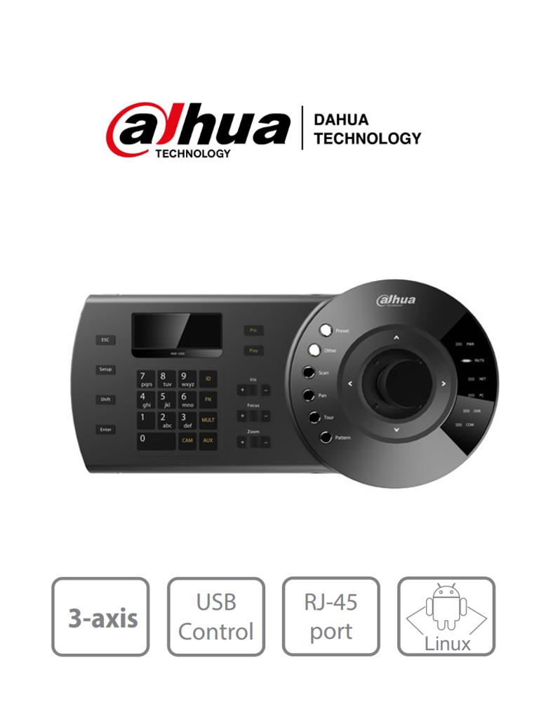 DAHUA NKB1000 - Teclado Controlador IP con Joystick para PTZs Analogicas e IP/ Control de DVRs y NVRs/ Pantalla LCD/ RJ-45/ RS232/ Pelco D & P/