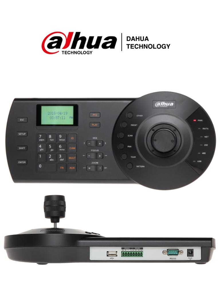 DAHUA KBD1000- Teclado con Joystick Analógico para Camaras PTZ/ Modo Directo/  Puertos RS485, RS422 & USB/ 3 Axis/ DH-SD1/PELCO-D/PELCO-P/