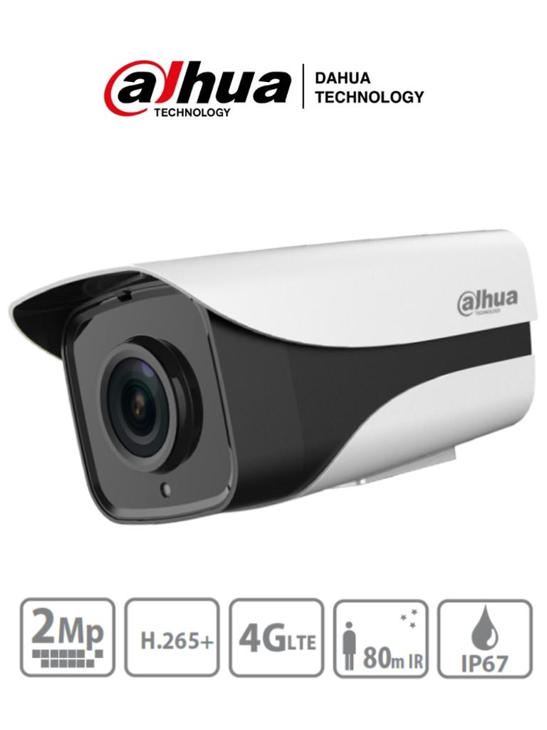 DAHUA IPC-HFW4230M-4G-AS-I2 - Camara IP Bullet 4G de 2 Megapixeles/ Lente de 3.6mm/ Soporta SIM Card 4G/ E&S De Audio y Alarmas/ Ranura para MicroSD/ BLC/HLC/DWDR/3D DNR/ No incluye brazo/