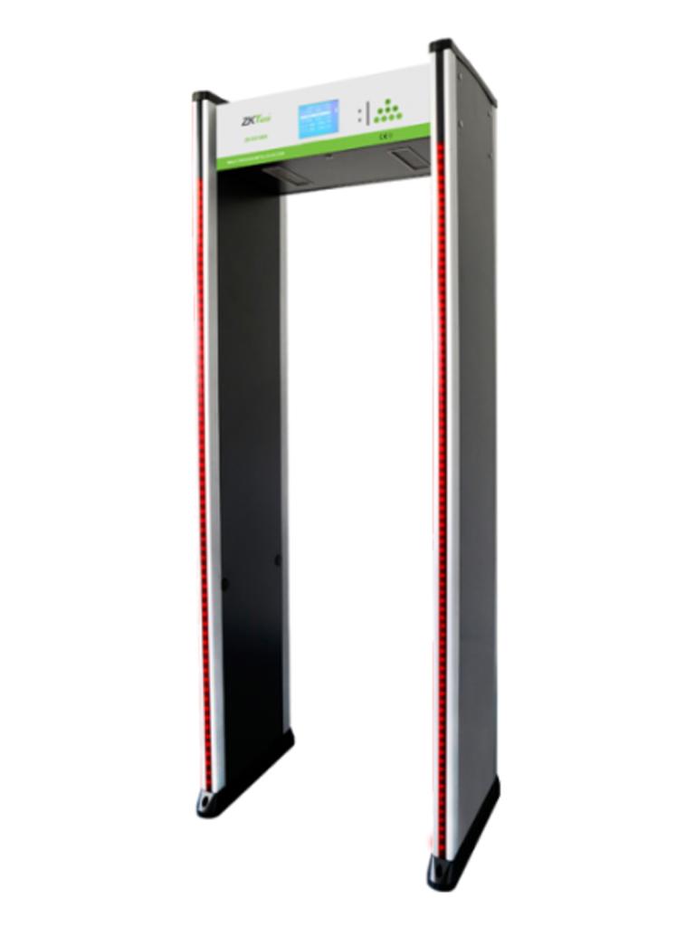 ZKTECO D3180S - Arco Detector de Metales / 18 Zonas de detección / 256 Niveles de Sensibilidad / Password de Protección / Indicadores  LED / Control Remoto