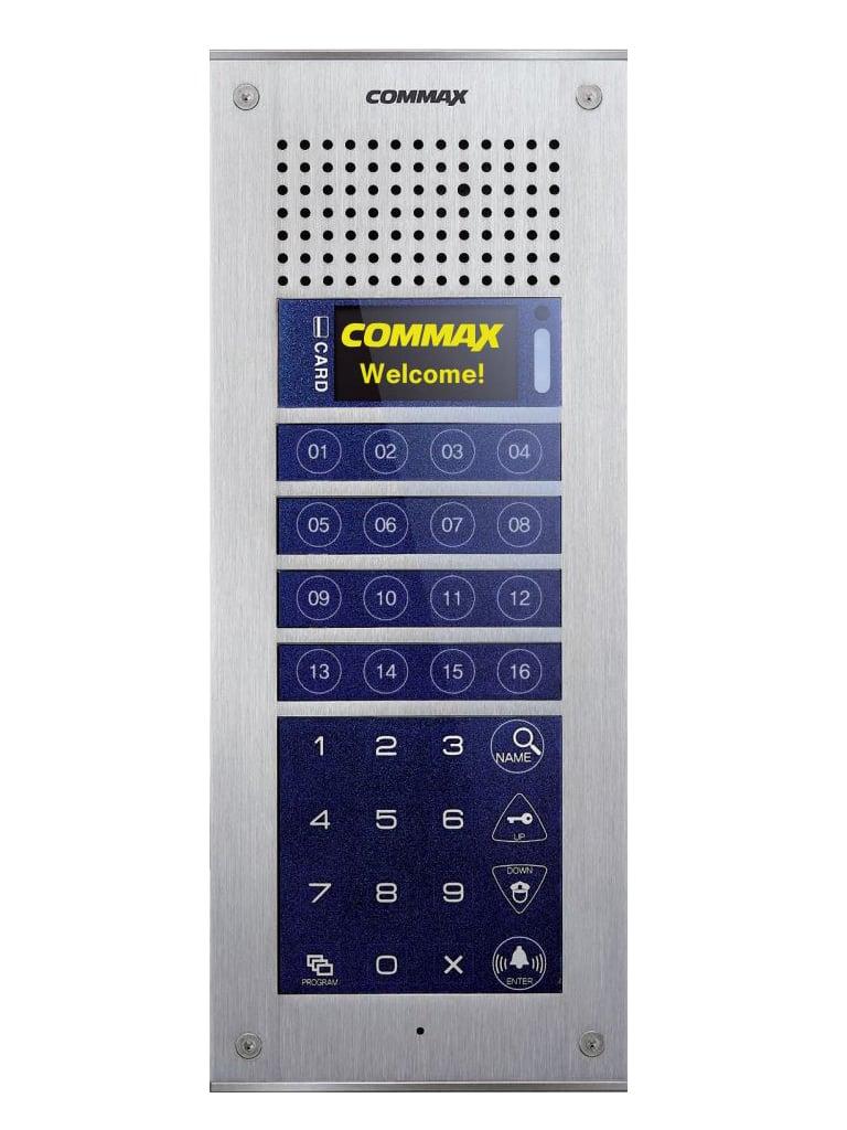 COMMAX CMP4BCT - FRENTE DE CALLE PARA APARTAMENTOS MODUM/ HASTA 316 MONITORES/ NOTIFICACION A CELULAR CON CMV70MX/ 16 BOTONES DE MARCADO DIRECTO