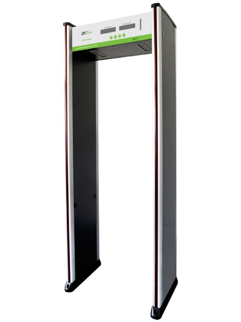 ZKTECO D1065S - Arco Detector de Metales / 6 Zonas de Detección / 100 Niveles de Sensibilidad / Contador de 5 Dígitos / Indicadores  LED en Ambas Vistas / Alta Sensibilidad