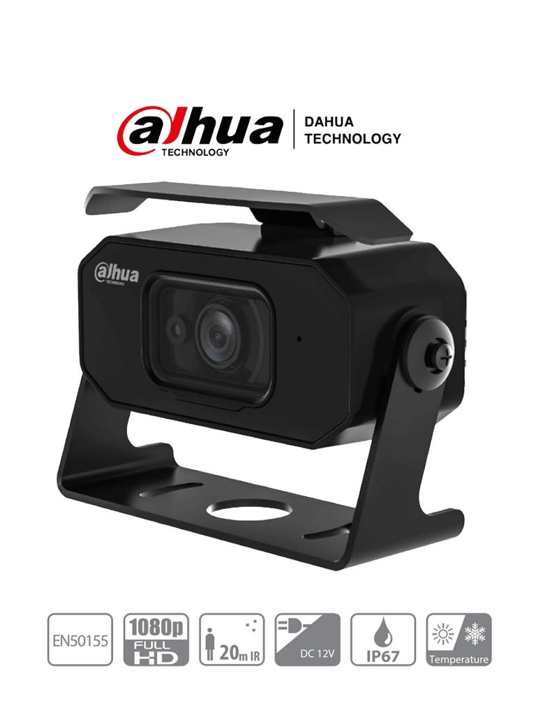 DAHUA HMW3200(2.1mm) - Cámara Cubo para DVR Móvil de 2 Megapixeles/ Lente de 2.1 mm/ 128 Grados de Apertura/ IR para 20 Mts/  A prueba de Choques/ IP67/ Microfono Integrado/ #Proyectos