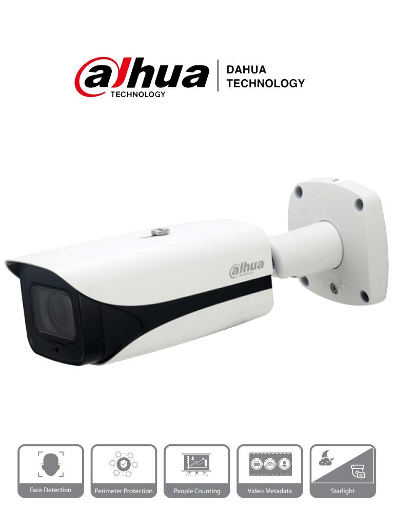 DAHUA IPC-HFW5242E-ZE-MF - Cámara IP Bullet IA de 2 Megapixeles/ Lente Mot. de 2.7 a 12/ H.265/ IR de 50 Mts/ E&S de Audio y Alarma/ WDR/ MicroSD/ IP67/ IK10/ Detección de Rostros/ #RETAIL #Proyectos