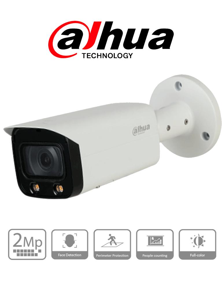 DAHUA IPC-HFW5241T-AS-LED - Cámara IP Bullet 2 MP Full Color/ WizMind/ Leds para 25 Mts/ H.265+/ Detección de Rostros/ Protección Perimetral/ IP67/ IK10/ Ranura para MicroSD/ #RETAIL #Proyectos
