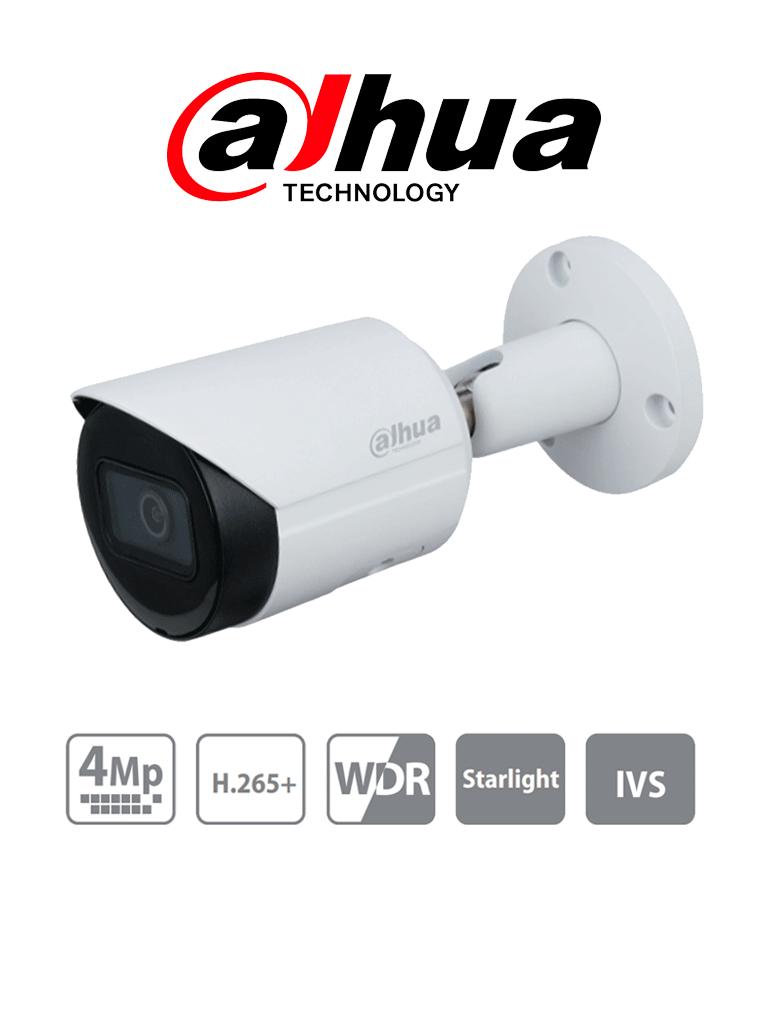 DAHUA IPC-HFW2431S-S-S2 - Cámara IP Bullet de 4 Megapixeles/ Lente de 2.8mm/ 102 Grados de Apertura/ IR para 30 Mts/ H.265/ WDR Real/ IVS/ IP67/ PoE/ Ranura para MicroSD