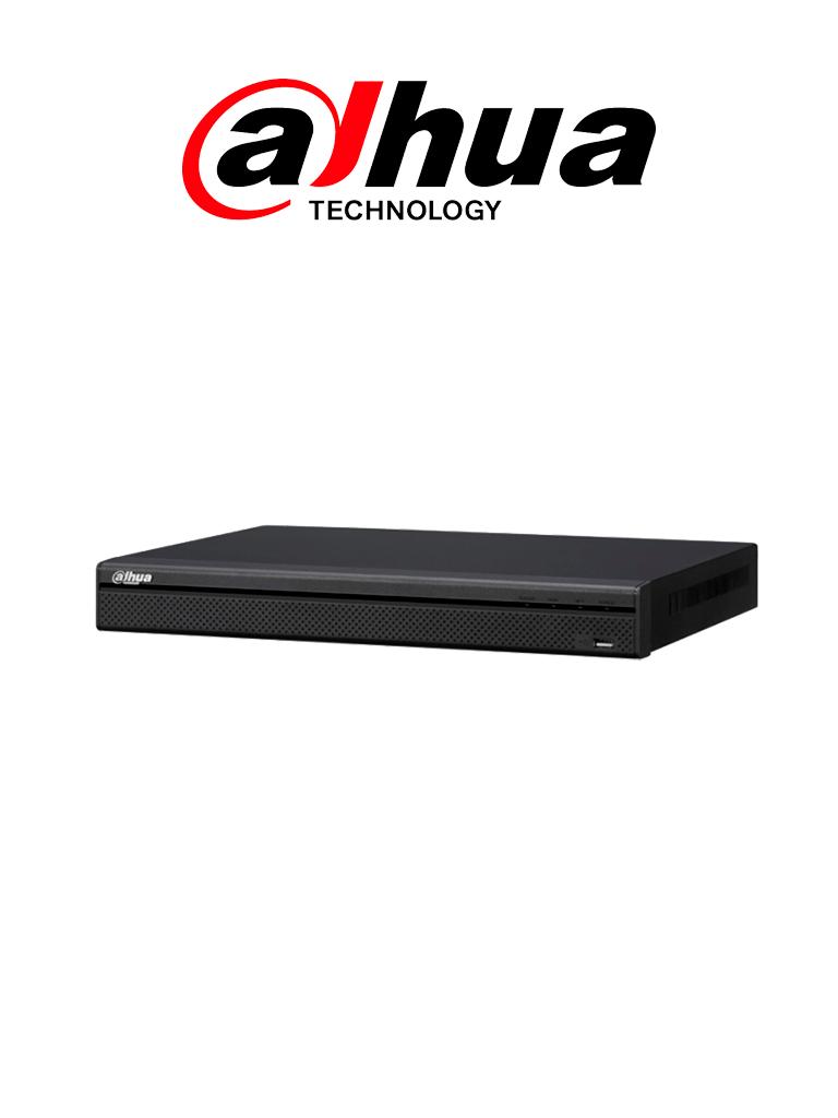 DAHUA NVR423216P4KS2 - NVR 32 Canales 4k/ H.265+ / 200  Mbps / 4 Entradas y 2 salidas de alarma / 16 Puertos  PoE / 2 Puertos SATA hasta 6TB /