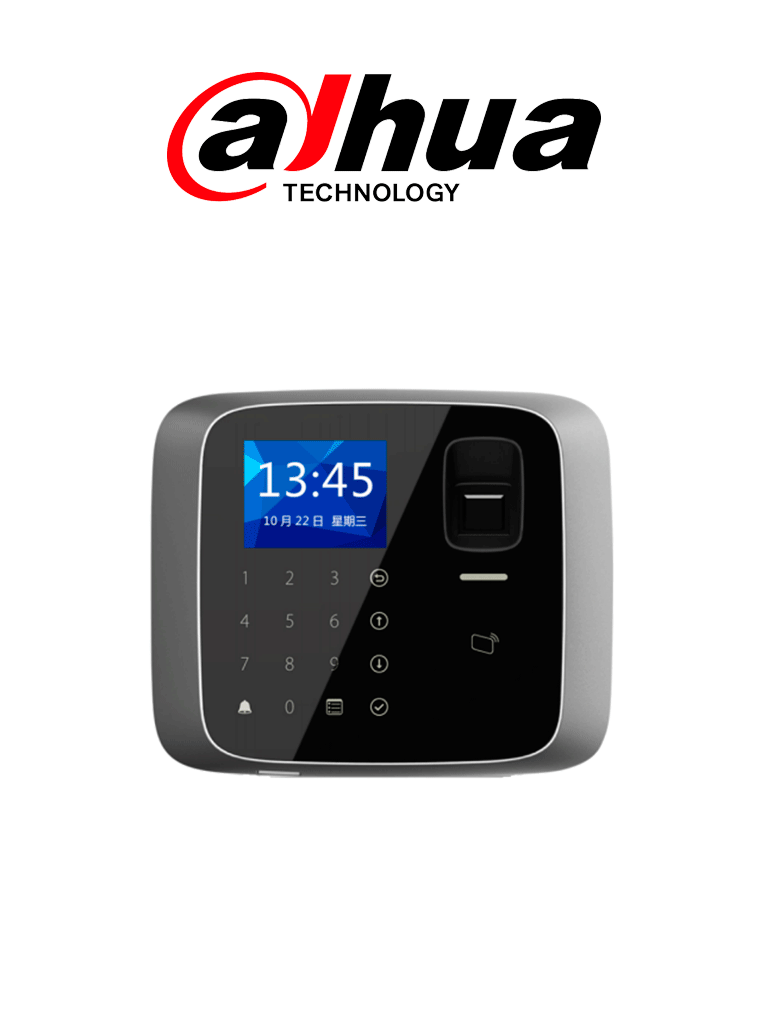 DAHUA ASI1212AD- Control de acceso profesional TCP/IP independiente / Tarjetas ID / 3,000 huellas / 150,000 Eventos / Admite lectora esclava #AccesoProfesional