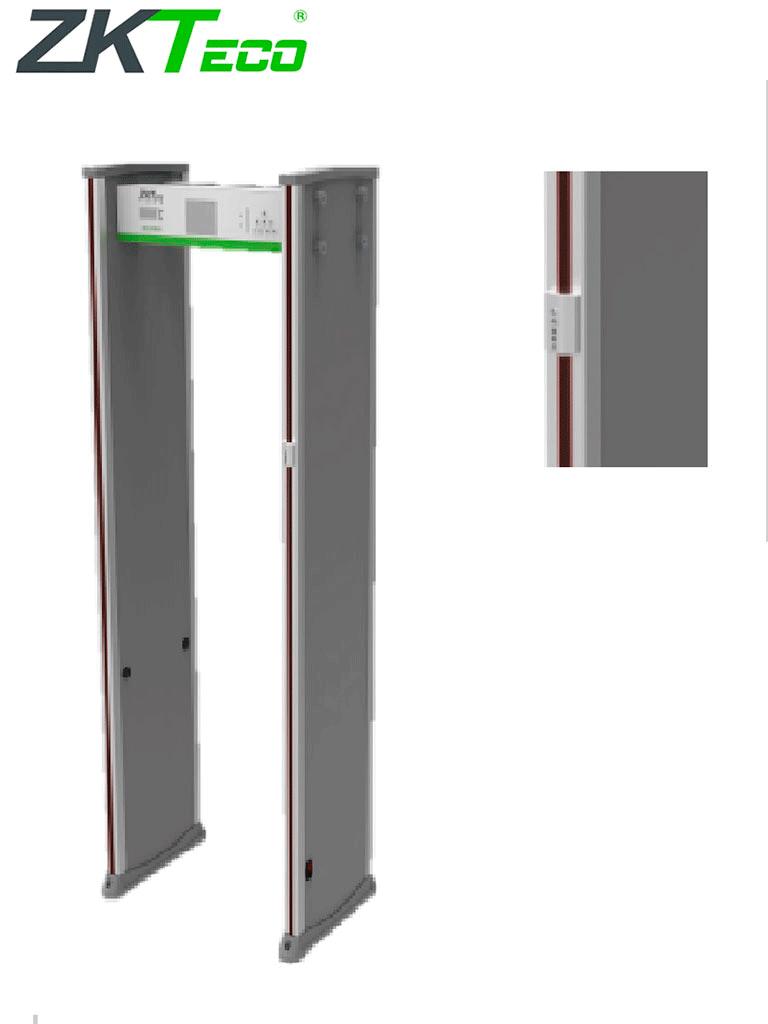 ZKTECO D3180STD - Arco Detector de Metales con Detección de Temperatura / 18 Zonas de Detección / 256 Niveles de Sensibilidad / Pantalla LCD 5.7 / Alarma Audible e Indicador Led