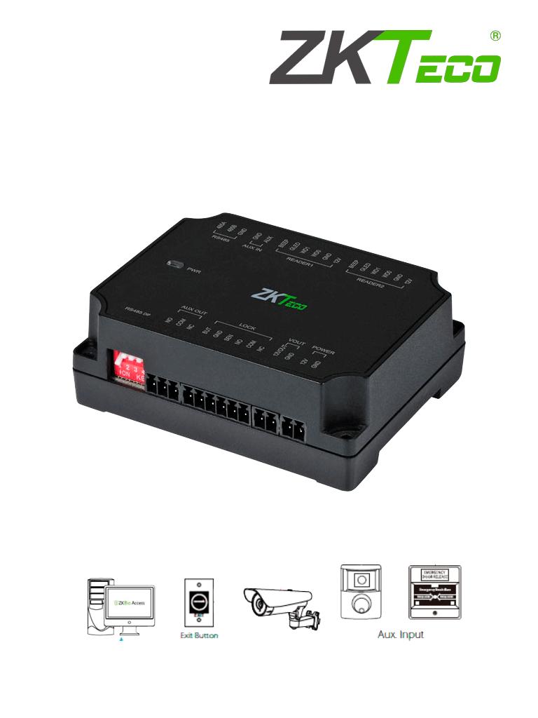 ZKTECO DM10 -  Expansor para Panel de Control de Acceso C2-260 (ZKT0720004) para Aumentar 1 Puerta por medio de RS485 / Agregando el Expansor DM10 puedes Aumentar y Controlar hasta 8 Puertas / Cuenta con Comunicación Wiegand