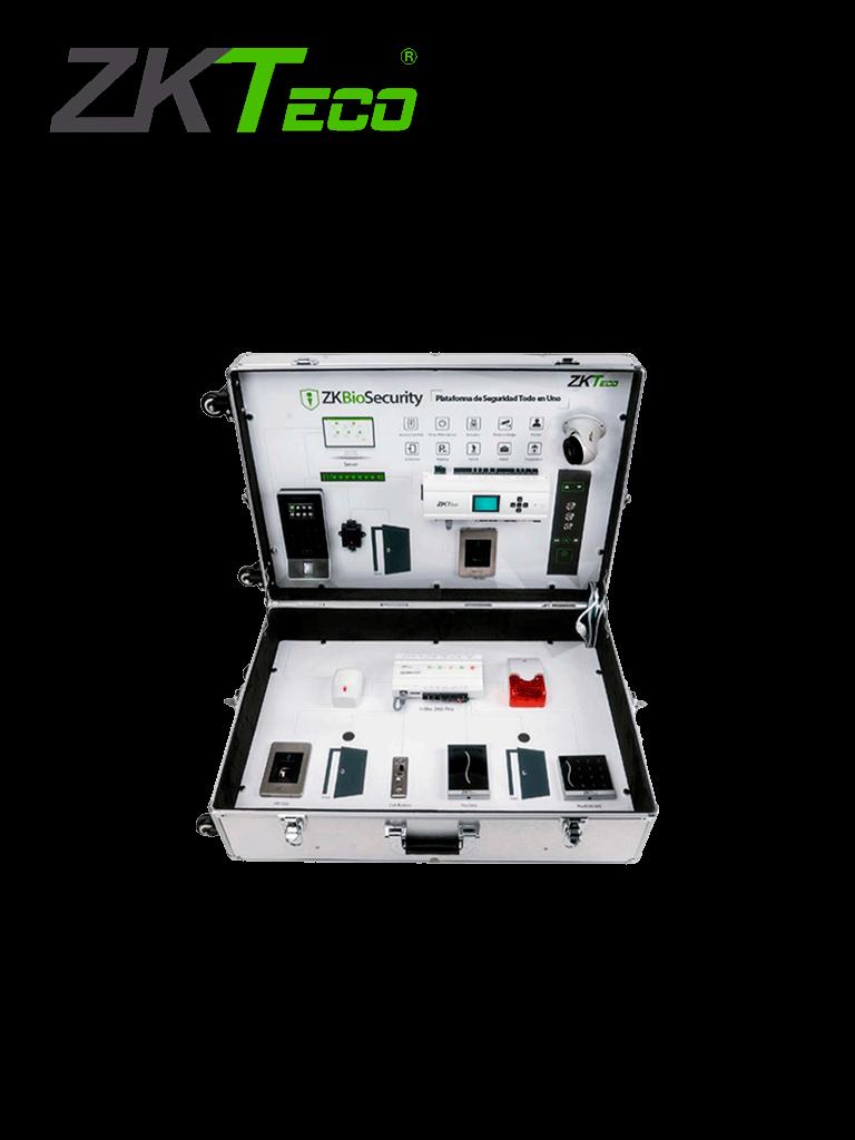 ZKTECO DEMOKIT - Maletín de Control de Acceso / Incluye Panel INBIOPRO / de Elevadores / 1 Cámara IP ZKTECO / Lectores de Huella y Accesorios