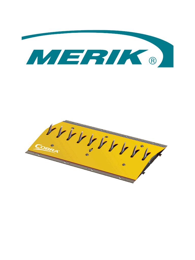 MERIK 12300PY - Cobra sección de picos poncha llantas de montaje en superficie / Tramo de 91cm / Color amarillo / No incluye biseles laterales