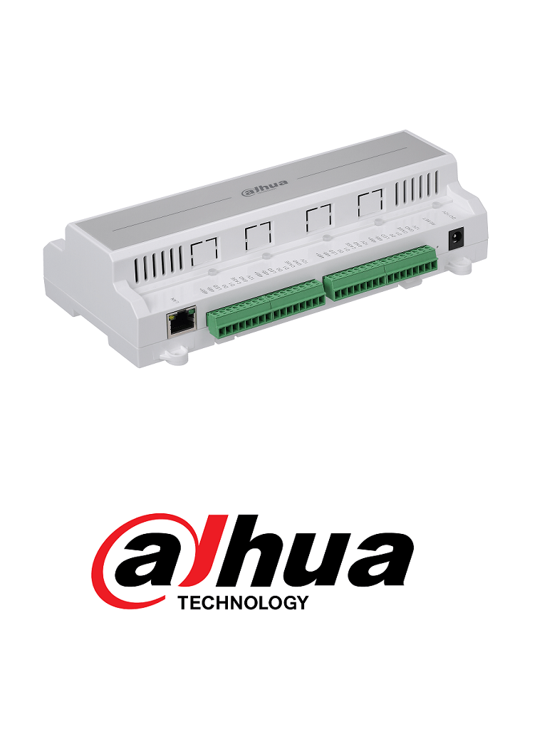 DAHUA ASC1202BD - Control de acceso TCP/IP para 2 puertas / 4 Lectoras  Wiegand o  RS485 / 100,000 Tarjetas / 150,000 Eventos / Admite biometricos DAHUA #AccesoProfesional