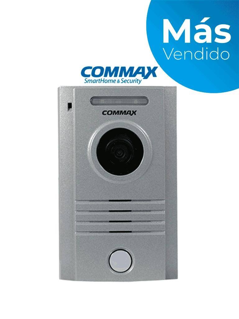 COMMAX DRC40K - Frente de calle de aluminio indicado para Interior y exterior, compatible con todos los monitores por conexión a 4 hilos, soporta hasta 2 monitores/ Ajuste vertical de cámara/ #MásVendido