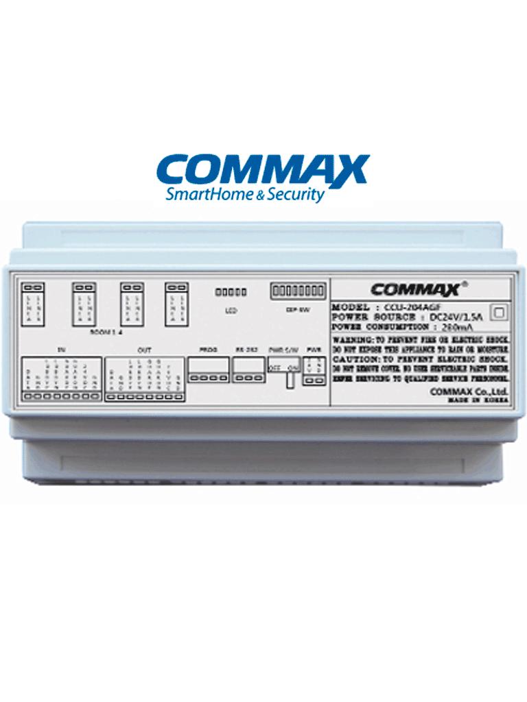 COMMAX CCU204AGF - Distribuidor para panel de audio modelo DR2AG, conecta hasta 4 Intercomunicadores, conexion por 2 hilos y alimentacion con fuente RF2A, solucion audiogate
