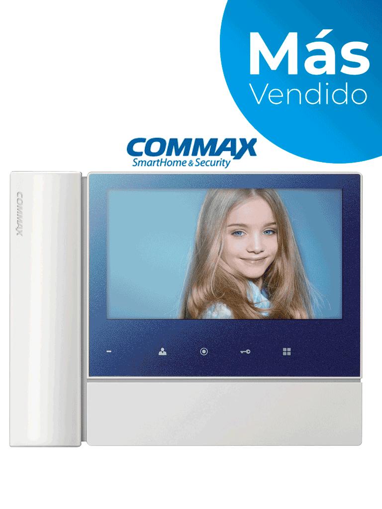 COMMAX CDV70N2 - Monitor  para videoportero de 7 pulgadas con auricular, soporta hasta 2 frentes de calle con función de apertura de puerta/ #TVCalGritodeMexico