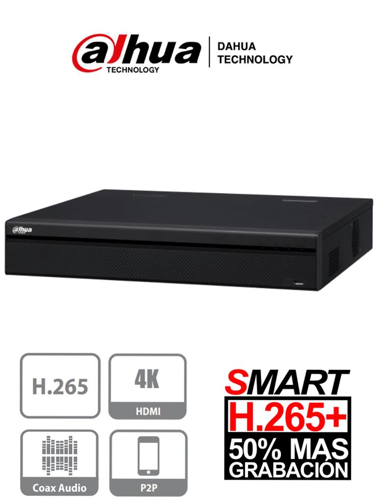 DAHUA XVR5432L-X - DVR 32 Canales  HDCVI de 4 Megapixeles Lite/ 1080p/ H265+/ 4 Puertos SATA/ Rendimiento IP 128 Mbps/ E&S de Alarmas/ Smart Audio/ 4 Entradas de Audio y 1 Salida
