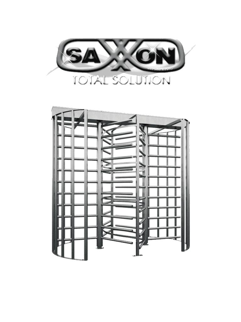 SAXXON D3 - Torniquete cuerpo completo para CTRL de acceso / Doble carril / Bidireccional / IP66 / Acero inoxidable / Sobre Pedido