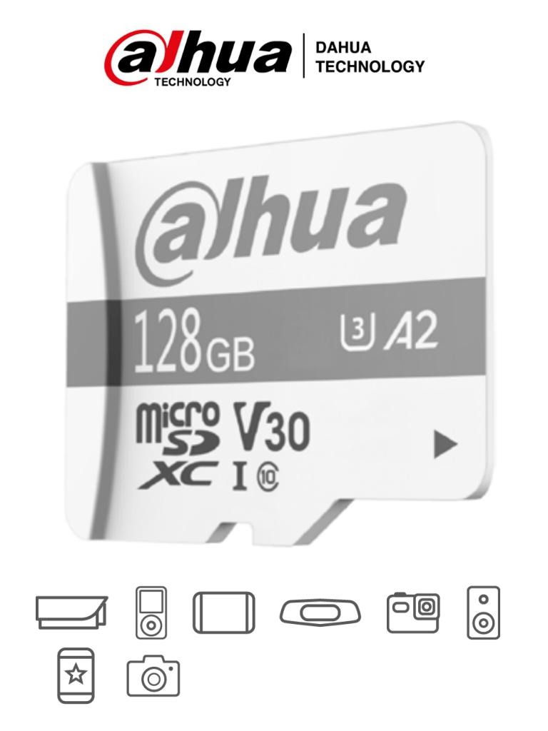 DAHUA TF-P100/128 GB - Dahua Memoria Micro SD de 128 GB UHS-I/ C10/U3/V30/A2/ Velocidad de Lectura 100 MB/s/ Velocidad de Escritura de 60 MB/s/ Especializada para Videovigilancia/ #LoNuevo
