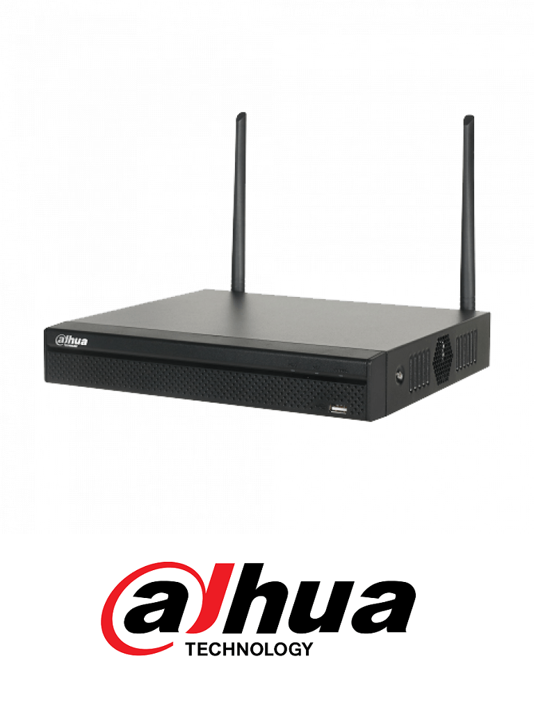DAHUA NVR2104HSW4K - NVR 4 Canales de video IP  WiFi / 2.4GHZ / H265+ / 80 Mbps Grabacion /  HDMI 4K / VGA / 1 Interfaz SATA / Grabacion hasta 4K / P2P/