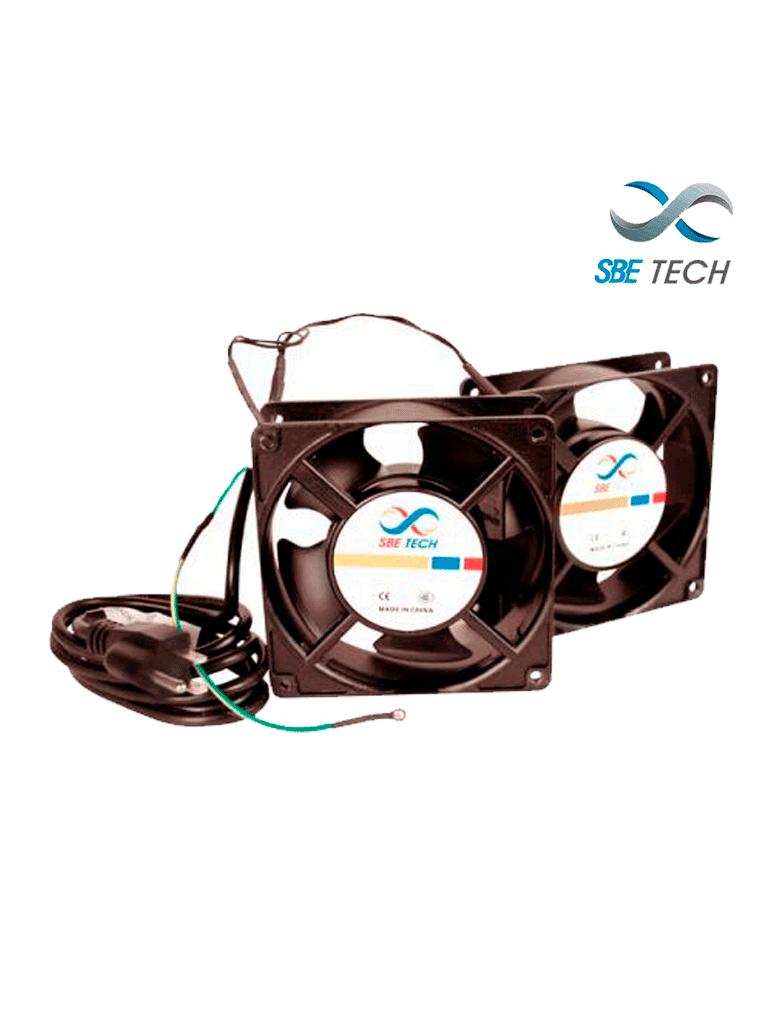SBETECH J2VENTN127V- Par de extractores para gabinete/ Extractor de 4 1/2 Pulgadas de diámetro