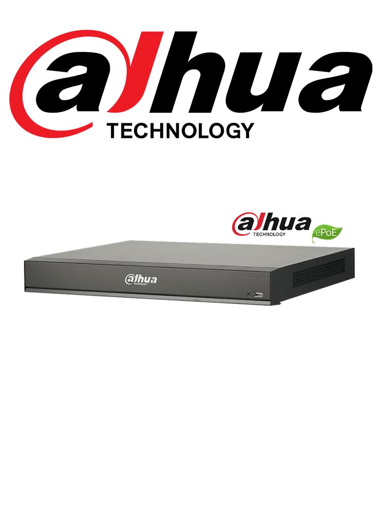 DAHUA DHINVR521616PI - NVR 16 Canales IP / 4K con inteligencia artificial / Reconocimiento facial / IA / H265+ / Rendimiento 320 Mbps /  HDMI / VGA / 16 Puertos  PoE / Soporta 2  HDD/ #Proyectos
