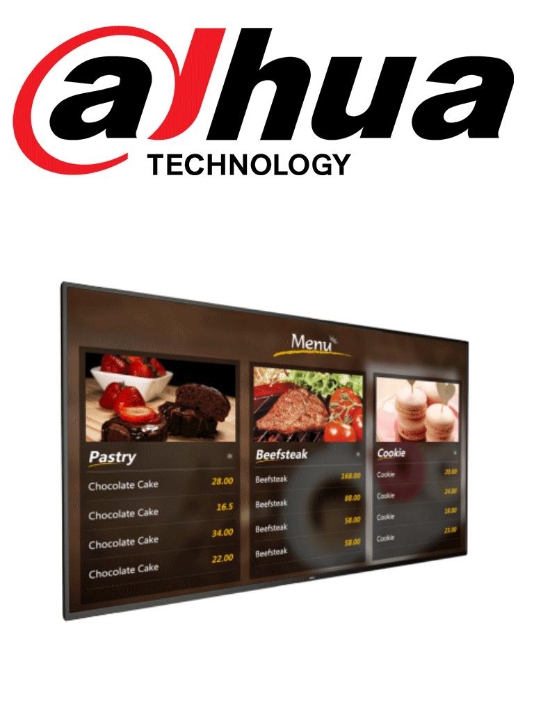 DAHUA LDH55MAI200 - Pantalla digital SIGNAGE  LCD 55 pulgadas / ANDRO ID / Uso interior / Carcasa de metal / Video / Imagenes / Texto administrable remotamente/ #ExpoTVC