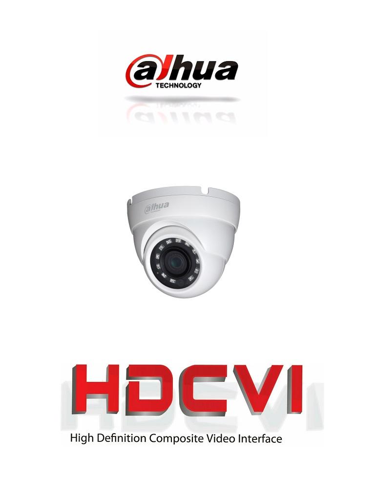 DAHUA HDW1000M28 - Camara domo  HDCVI  720p / TVI / A HD / CVBS / Lente fijo 2.8 mm / Ir 30M / Smart ir / IP67 / BLC / HLC / DWDR / AGC / Metalica