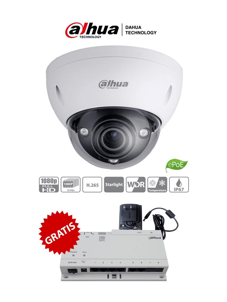 DAHUA IPC-HDBW5231E-ZE-HDMI - Cámara IP Domo 2 Megapixeles con Salida HDMI/ Lente Motorizado de 2.7 a 13.5/ IR de 50 Mts/ E&S de Audio y Alarma/ IP67/ IK10/ ePoE/ MicroSD #SeriePro #MITAD