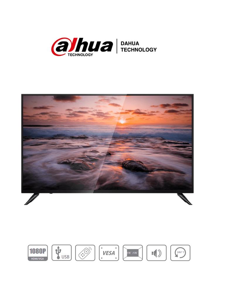 DAHUA LM43-F200 - Pantalla de 43 pulgadas/ Profesional para CCTV/ FHD/ Ideal para trabajar 24/7/  VGA/ HDMI/ Altavoces Integrados/ Brillo de 330 CD/ 8MS/