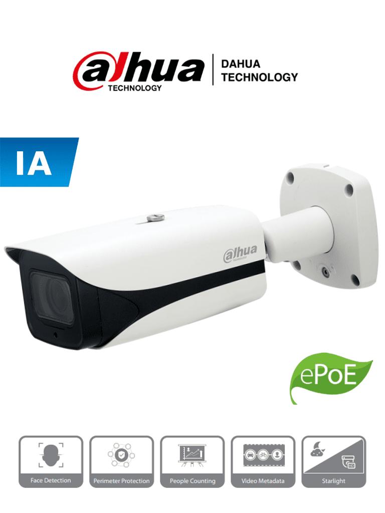 DAHUA IPC-HFW5241E-Z12E - Camara Zoom IP Bullet de 2 Megapixeles/ Wizmind/ Zoom Optico de 12X/ IR de 150 Mts/ Videoanaliticos con Detección de Rostros y SMD Plus/  2&1 E&S de Alarma/ E&S Audio/ Ranura MicroSD/ IP67/ IK10/ WDR Real/ #RETAIL #Proyectos