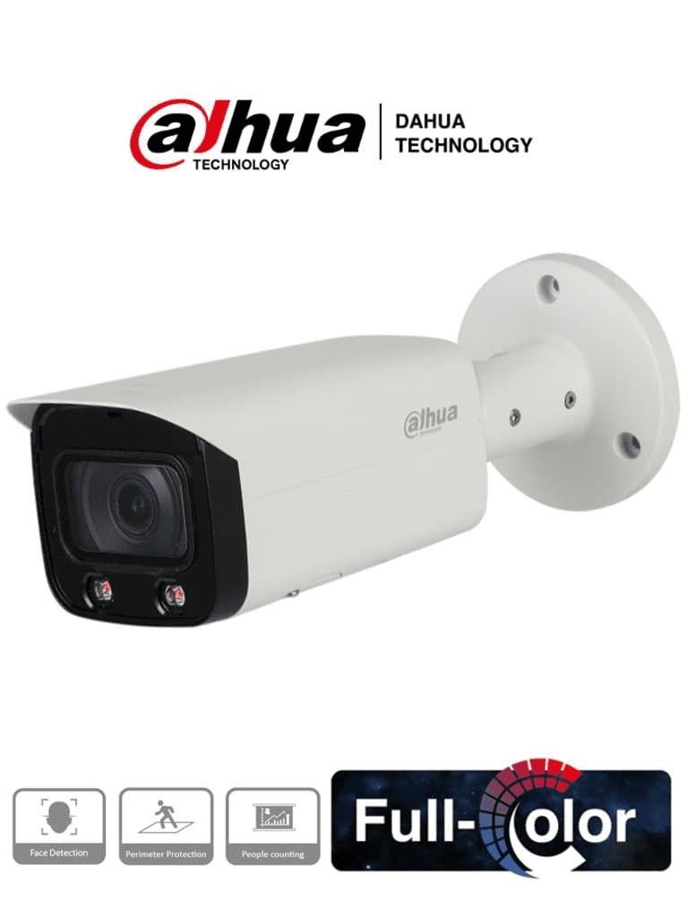 DAHUA IPC-HFW5442T-AS-LED - Camara IP Bullet Full Color de 4 Megapixeles/ Lente de 3,6 mm/ H.265+/ WDR Real de 140 dB/ E&S de Audio/ E&S de Alarma/ Leds 20 Metros/ IP67/ IK10/ PoE/ Detección de Rostros/ Protección Perimetral/ #RETAIL #Proyectos