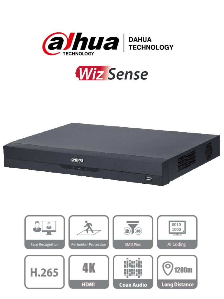 DAHUA DH-XVR5232AN-I2 - DVR de 32 Canales de 5 Megapixeles N/ 1080p/ WizSense/ H.265+/ 2 Canales de Reconocimiento Facial/ Hasta 32 Canales IP (32 Canales Totales)/ SMD Plus/ Protección Perimetral/ 2 Puertos SATA Hasta 20 TB/ IoT&POS/